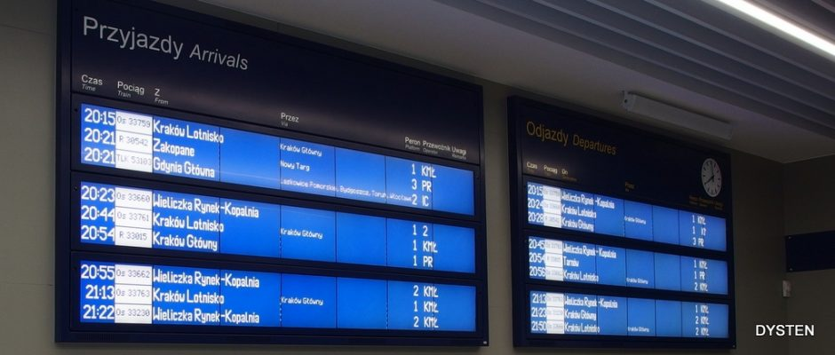 arrival departures boards for railways