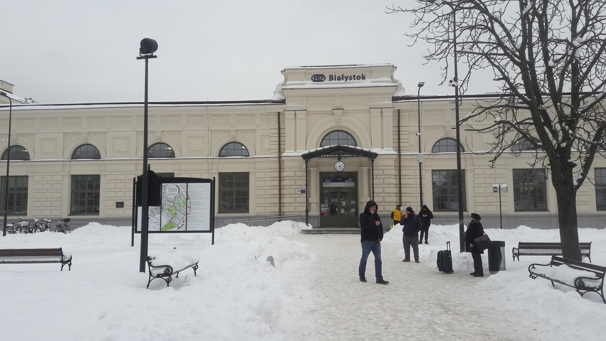 Dworzec Białystok PKP SDIP Dysten