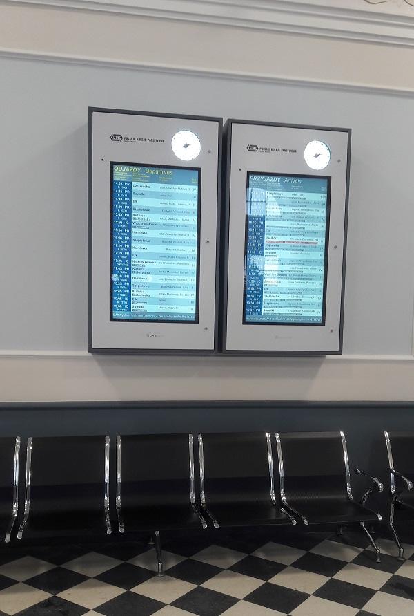 Tablica Informacji Pasażerskiej odjazdy przyjazdy wisząca ipi6