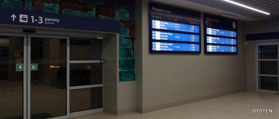 main station display boards wyświetlacz główny stacyjny Krakow plaszow