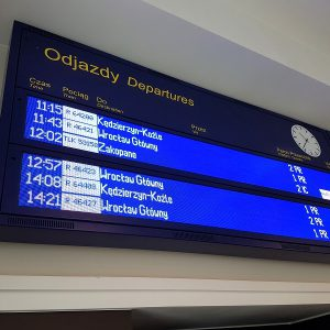LED display departures arrivals railway
