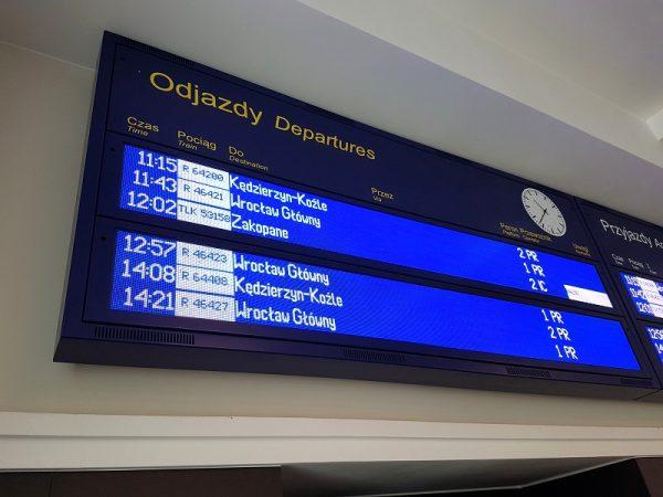 LED display departures arrivals railway