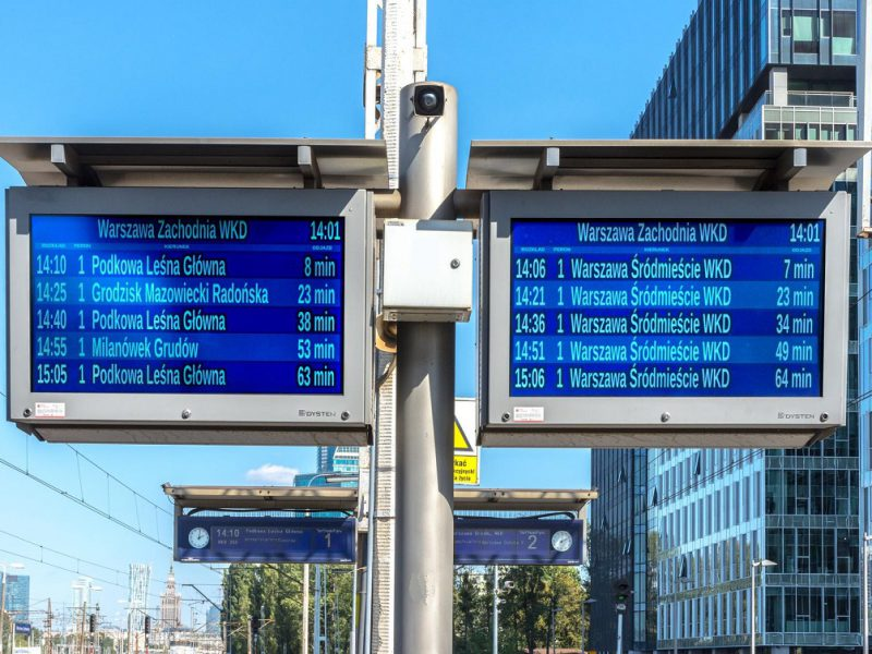 101 platform displays LCD TFT warsow commuter railway