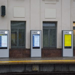 train platform display WOP Infokiosk