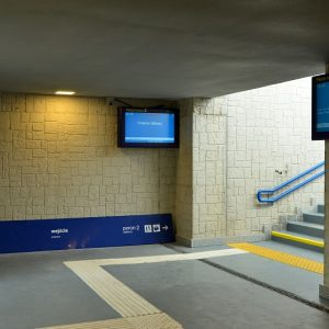 Platform entrance display LCD TFT