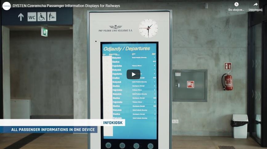 Czeremcha Passenger Information displays