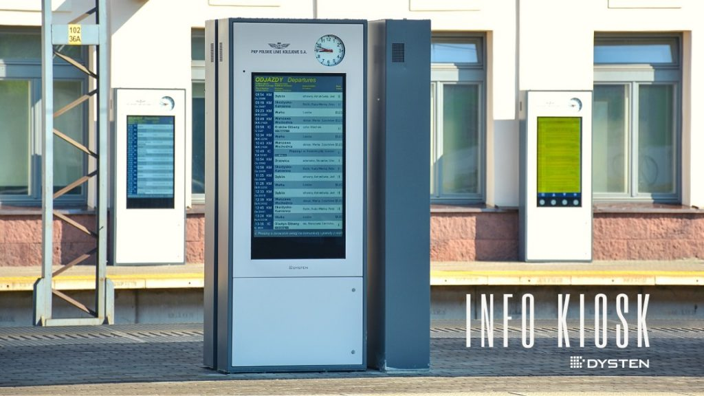 Info kiosk pis sdip wyświetlacze kolejowe