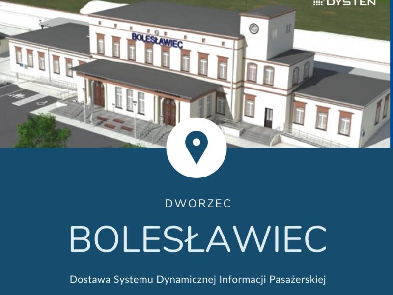 tablice informacji pasażerskiej na dworcu w Bolesławcu