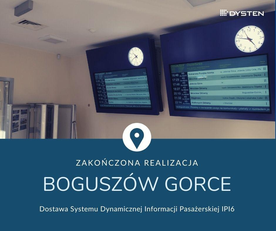 Boguszów-Gorce Zachód PKP SA z systemem informacji pasażerskiej DYSTEN
