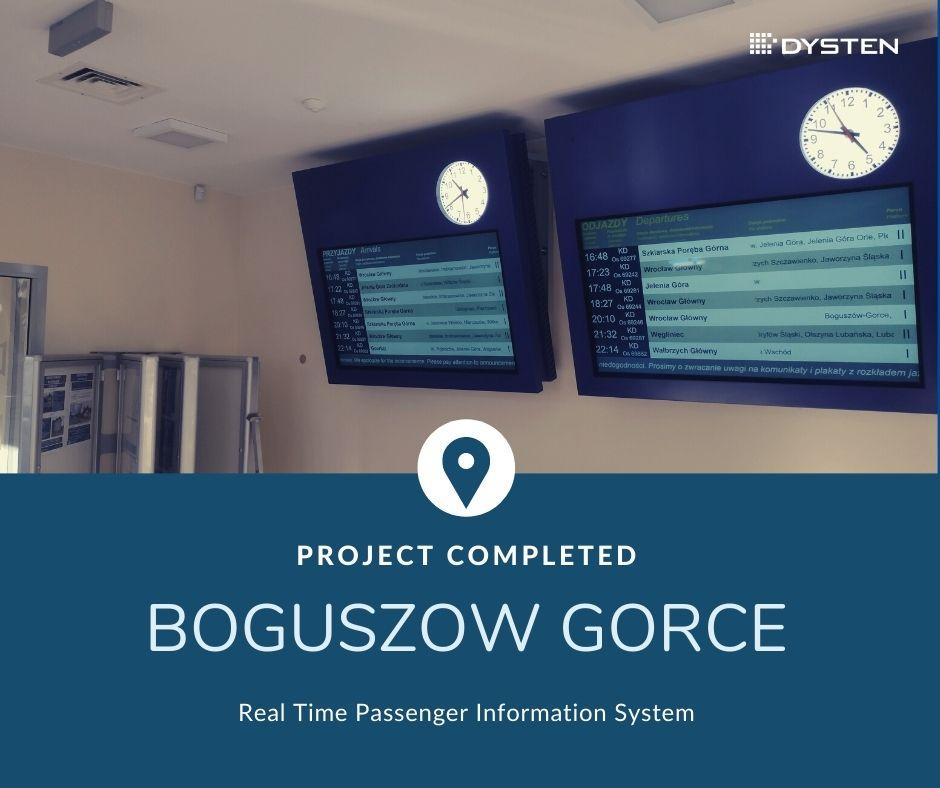 Real time passenger inforation system in Bogoszow Station