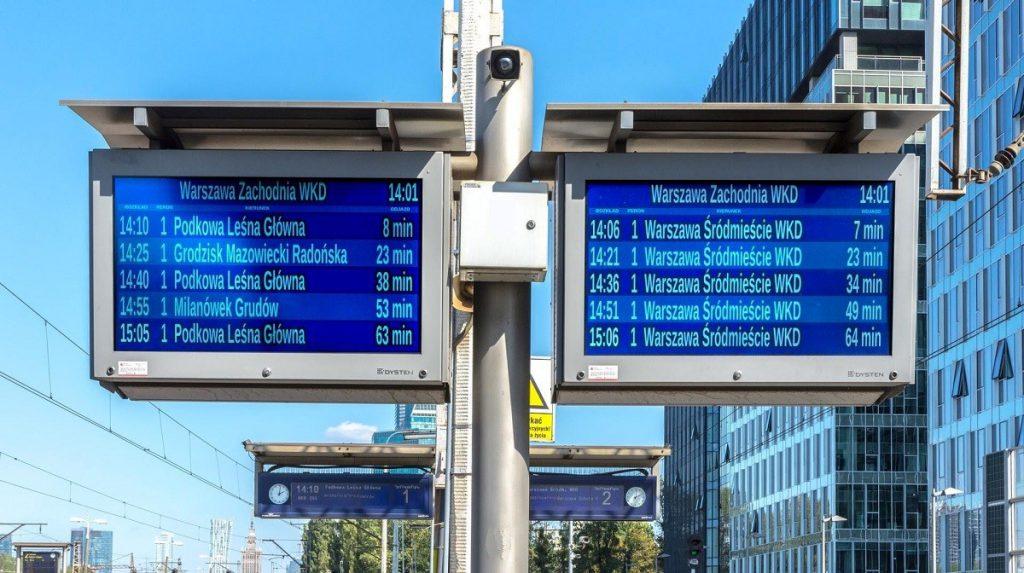 urządzenia informacji pasażerskiej w czasie rzeczywistym